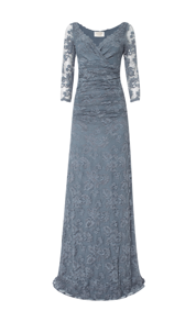Olvis' Lace Gown | Grey (Please contact boutique to order) - EU 42