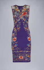 Roberto Cavalli Enchanted Garden Jersey Dress  |  Purple