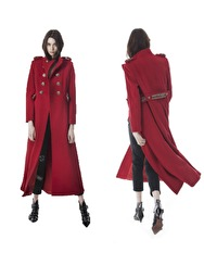 Michele Rossi Long Coat |​ Red