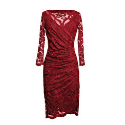 Olvis' Lace Dress | Deep Red (please contact boutique to order)