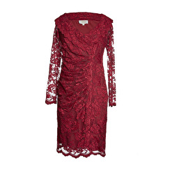 Olvis' Lace Dress | Wine Red