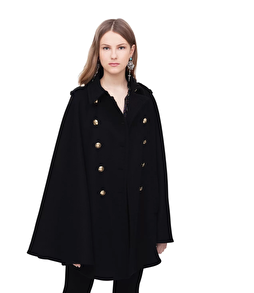 Roberto Cavalli Cloak With Gilded Buttons - IT40