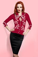 Wheels & Dollbaby Dita Von Teese Cardigan   Scarlet