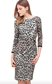 Roberto Cavalli Animalier Dress with Snake Buckle - IT 42