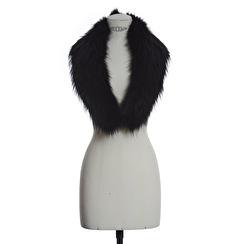 SAKI Swden Racoon Fur Collar | black