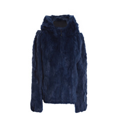 Tavus Milano Bomber Jacket With Hood | indigo blue