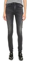 Goldsign Brigitte Highrise Skinny Jeans | faded grey