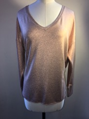 Majestic V Neck Deluxe Sweatshirt | bronze