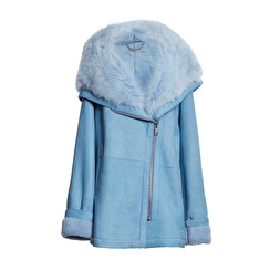 Levinsky Tara Suede Lamb Jacket | light blue