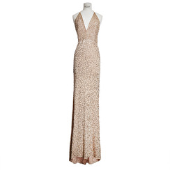 Holt Miami Maison Du Luxe Bea Gown | Nude & Gold