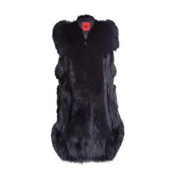 Levinsky Black Fox Vest | black