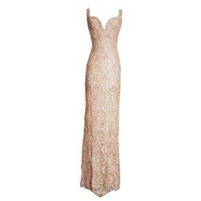 Holt MiamiMaison Du Luxe Brie Lace Gown | Nude - EU S
