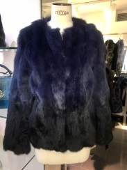 Tavus Milano Degrade Fur Jacket | degrade blue to black
