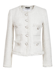 Maruschka de Margò Pearl Tweed Jacket | Pearl White