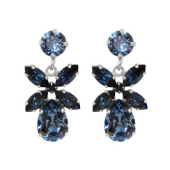 Caroline Svedbom Mini Dione Earrings | denim blue + montana & rhodium