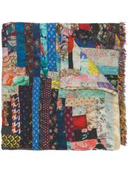 Faliero Sarti Multicolour Patchwork Print Scarf