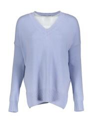 Herzen Cashmere V-neck Jumper   light blue