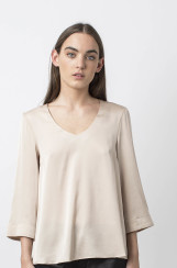 Ahlvar Gallery Emiko Blouse |​ dark powder