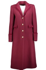 Roberto Cavalli Fitted Wool Coat | ruby