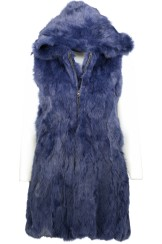 Tavus Milano Long Vest With Hood | blue