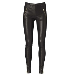 Utzon Luxe Stretch Leather Pants | black