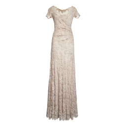 Olvis' Lace Gown | Golden Beige  (Please contact boutique to order)