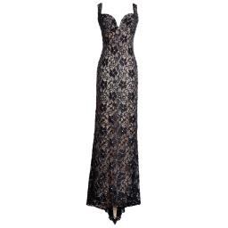 Holt MiamiMaison Du Luxe Brie Lace Gown | Black