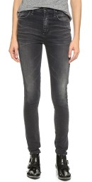Goldsign Brigitte Highrise Skinny Jeans |​ faded grey