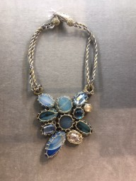Boks & Baum Mini Lea Light Blue Necklace