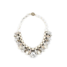 Tataborello Crystal Necklace | Cream Deluxe