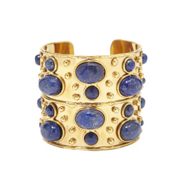 Sylvia Toledano Cuff Byzance Lapis Bracelet  (please contact boutique to order)