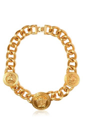 Versace Iconic 3 Medusa Medallions Necklace