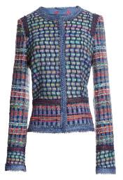 Maison Common Couture Tweed Jacket | multicolour on denim blue base