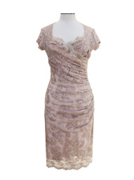 Olvis' Swarovski Lace Dress | Champagne  (Please contact boutique to order)