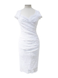 Olvis' Swarovski Lace Dress | White  (Please contact boutique to order)