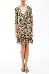 Roberto Cavalli Chukar Print Jersey Dress