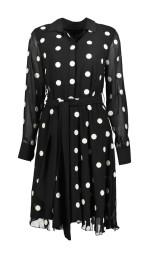 Paris Dot Dress Black