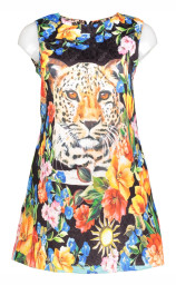 Paris Floral Tiger Dress