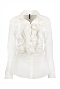 Paris Ruffle Blouse Fitted - 36
