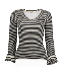 Paris Stripe Top with Pearls