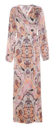 Dea Kudibal Mathilde Wrap Maxi Dress | Paisley Coral