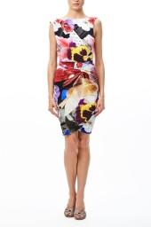 Roberto Cavalli Araki Peonies Flower Print Sleeveless Jersey Dress | floral