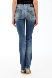 Roberto Cavalli Straight Leg Jeans | faded blue