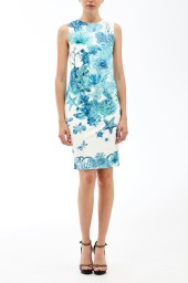 Roberto Cavalli Coral Reef Jersey Dress  | turquoise