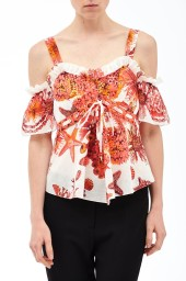 Roberto Cavalli Coral Reef Blouse  | coral