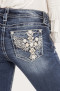 Miss Me Take Off Mid-Rise Straight Jeans   faded blue - 31