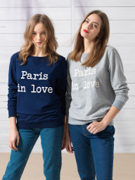 Paris in Love Sweatshirt | navy