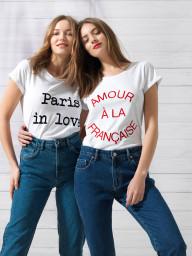 Paris Amour a la Francaise Tee | white