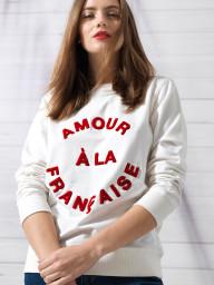 Paris Amour a la Francaise Sweatshirt | white