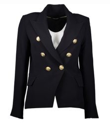 Paris blazer with gold buttons | navy
